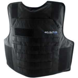 Black bulletproof vest carrier