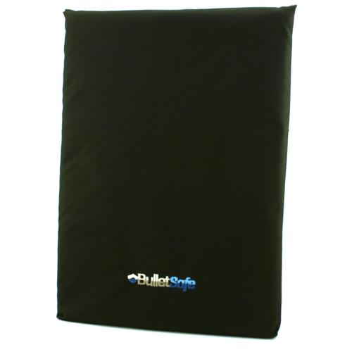 Black bulletproof backpack panel